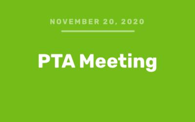 PTA Meeting (Video – Oct 30, 2020)